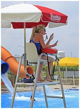 Female Lifeguard on Duty