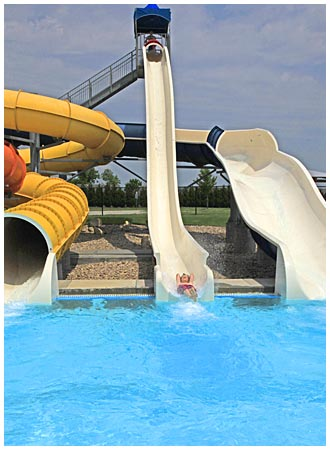Swimmer on a Water Slide